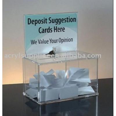 acrylic donation box with lock