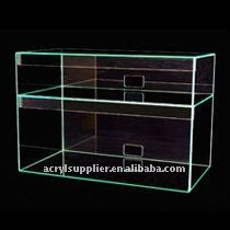 clear acrylic display boxes widely use for supermarket and convenience stores