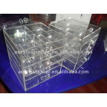 5-Drawer clear acrylic showcase