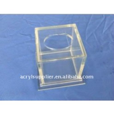 fashionable transparent acrylic tissue cover for home or hotel