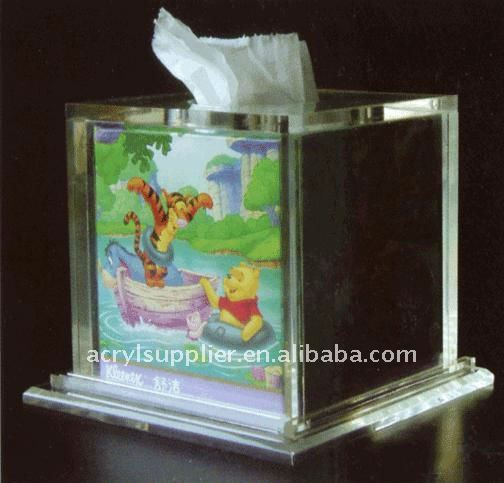 hot new style square clear acrylic napkin box