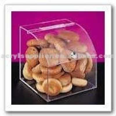 Exhibition design clear acrylic display case for food