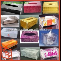 clear acrylic tissue boxes,napkin holder with silk screen print