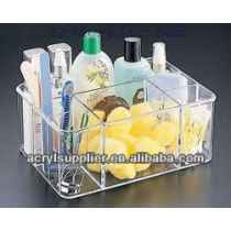 clear acrylic makeup orgaizer with dividers