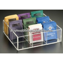 acrylic tea box holder