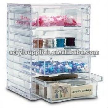 arcylic Organizing Box/Craft Storage(display) with drawer