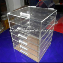 POP wholesale acrylic makeup organizer with drawers