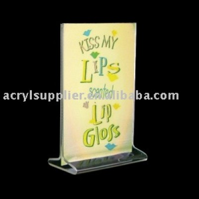 Vertical Top Load Acrylic Sign Holder