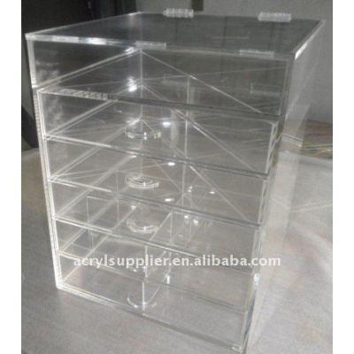 Acrylic cosmetic & makeup drawer organizer