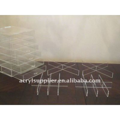 4 drawer acrylic organizer with cover
