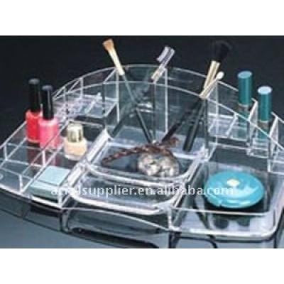Multi-fonction acrylic cosmetic organizer
