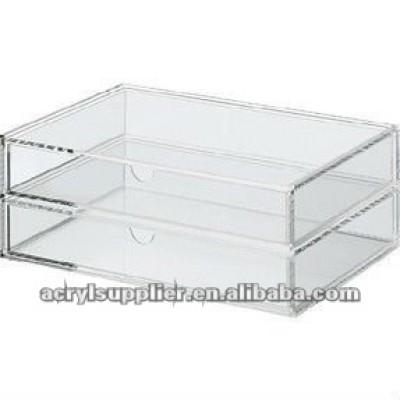 acrylic 2-drawer storage organizer
