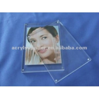 wall mounted acrylic magnetic cube photo frames