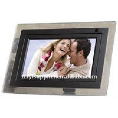 Clear transparent acrylic magnetic photo frame for family