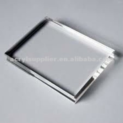 Hot sale crystal transparent acrylic block with paperweight