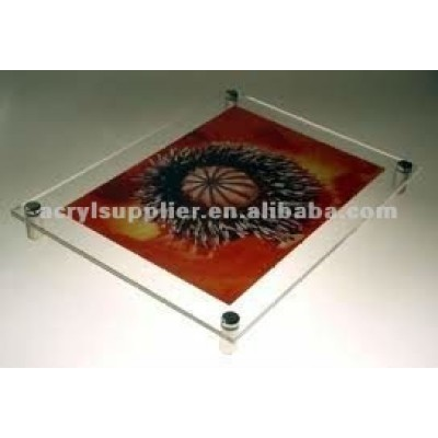 wall mount clear acrylic poster frame for hotel