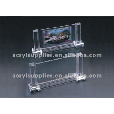 transparent clear Acrylic digital frame 8x10 Single Vertical