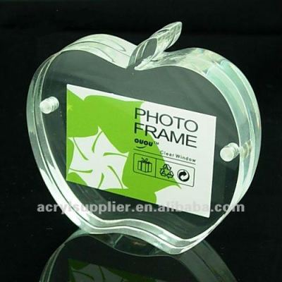 sample square acrylic picture frame for family