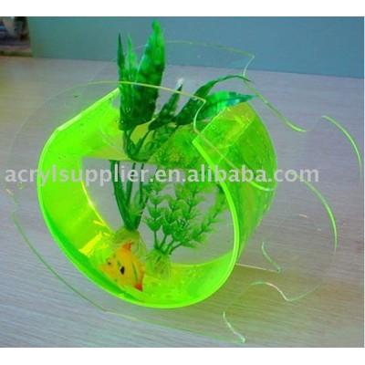 clear acrylic circular mini fish tank-15