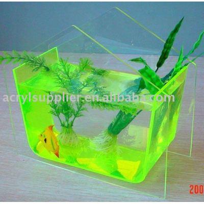 noctilucent acrylic tetragonum mini fish tank-16