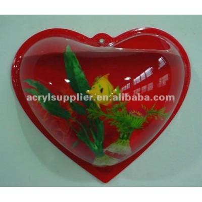 Red hanging modern Design Acrylic freshwater fish Tank