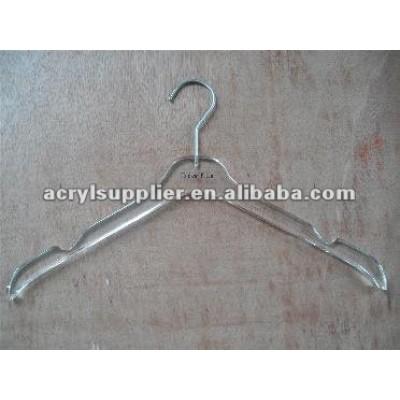 Clear acrylic hanger