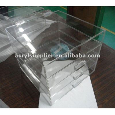 4 Tier clear acrylic food drawers/home furnitures