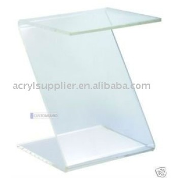 Z Acrylic Side Table Clear Nesting Modern Coffee Tables