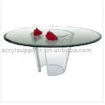 acrylic round coffee table