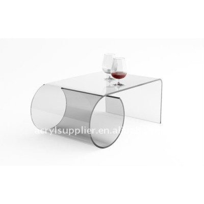 Clear acrylic or perspex coffee table of furniture