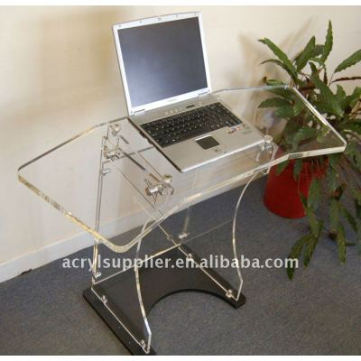 Clear computer Acrylic bedside laptop table for hotel