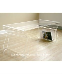 Clear white Acrylic dining table & acrylic nightstand table