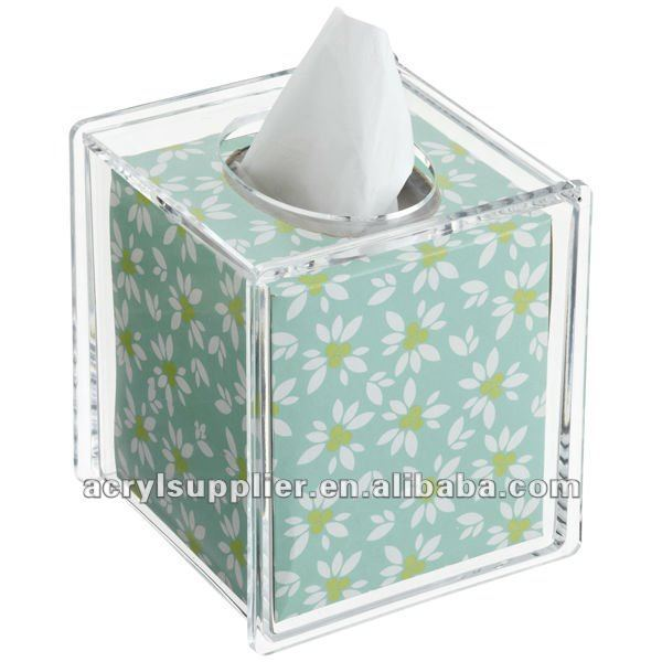Acrylic tissue box