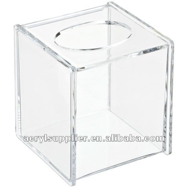 Acrylic tissue display box