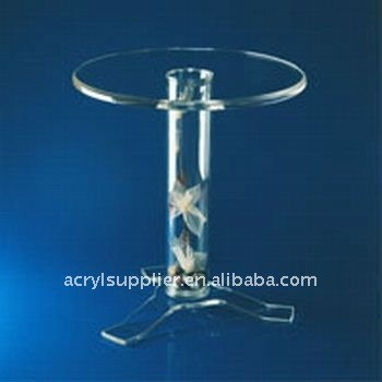 Table top transparent acrylic coffee table