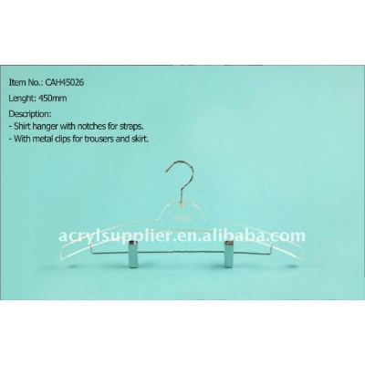 Acrylic shirt hanger crystal clips hangers