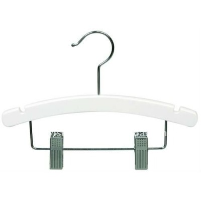 Flat Pant/Skirt hanger with insert clips