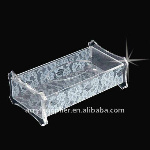 Transparant rectangular clear Tissue Box Cover Holder for car