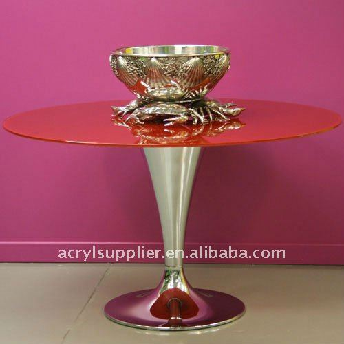 new style red clear acrylic dining room table