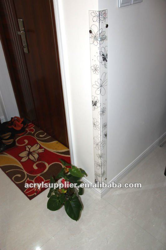 acrylic wall corner protector with pattern