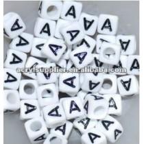 Mixed acrylic alphabet beads