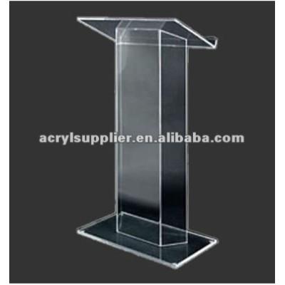 clear acrylic column lectern