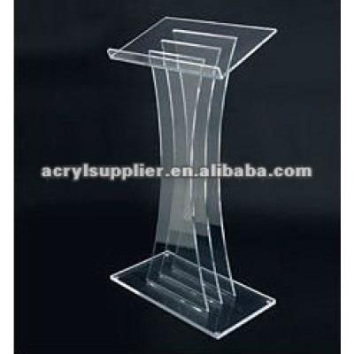 Floor standing acrylic lectern for meeting