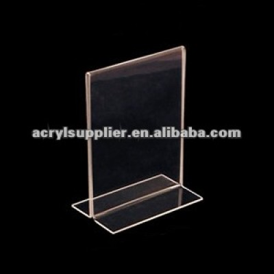 acrylic stand up sign holder