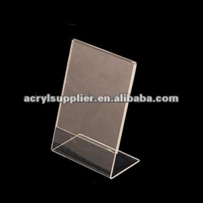 clear acrylic top load sign holder
