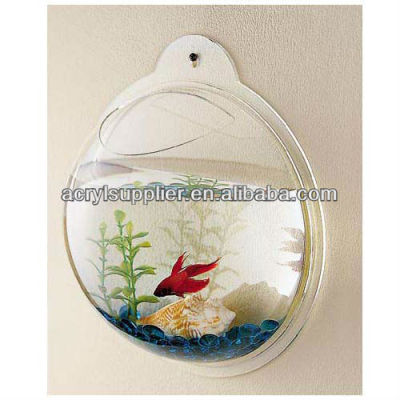 Fashion clear acrylic angled stand small fish tank