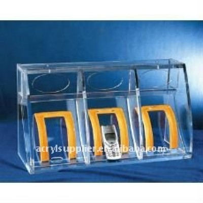 clear acrylic cell phone holder