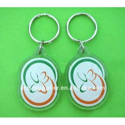 new plastic Acrylic crafts with plastic souvenir of keychain
