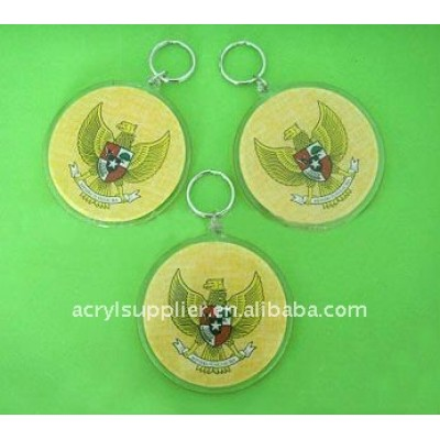 Acrylic crafts with plastic keychain