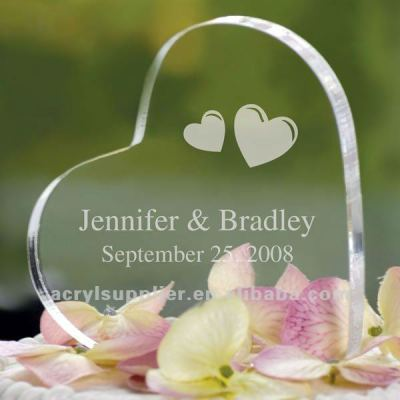 New clear acrylic paperweight for wedding souvenirs